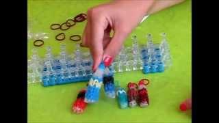 Как сплести Бутылочку Кока-кола Coca-cola для кукол из резинок Rainbow loom band