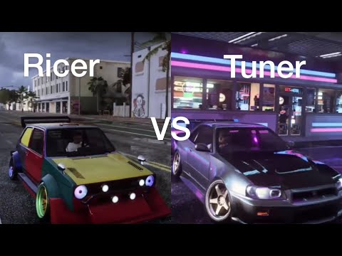 Ricer vs tuner (nfs heat) |
