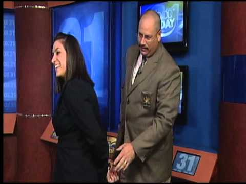 Kerri gets handcuffed on television