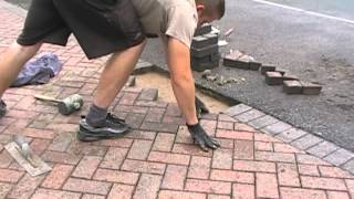 Fixing a low spot - Re-laying blocks