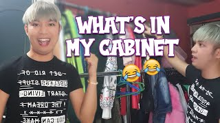 WHAT'S IN MY CABINET AND WALK IN CLOSET (NAKAKALOKA ANG MGA LAMAN)