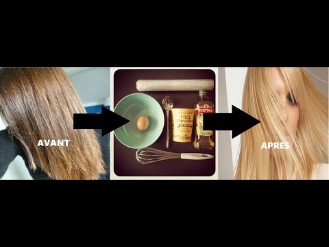 tuto cheveux recette de masque maison naturelle pour claircir vos cheveux youtube. Black Bedroom Furniture Sets. Home Design Ideas