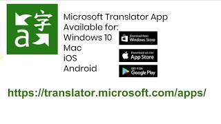 Overview of Microsoft Translator Win 10 App part 1