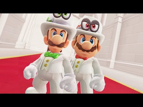 Super Mario Odyssey - Mario vs Luigi All Bosses Gameplay