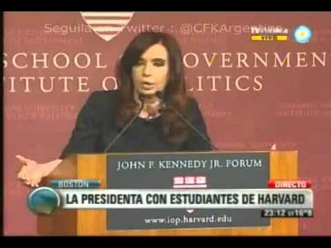 Video completo de Cristina en Harvard