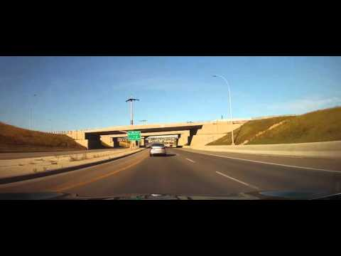 Driving from the Parking Garage at the Calgary Airport to University of Calgary