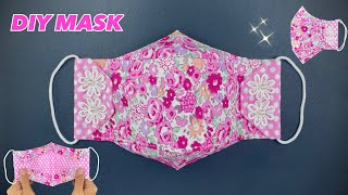 CUTE MASK New Design MASK 4 Layers Face Mask Sewing Tutorial Breath Mask NO FOG ON GLASSES