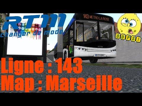 Map: Marseille Ligne 143 /////// Bus: Solaris Urbino 12 [OMSI2]