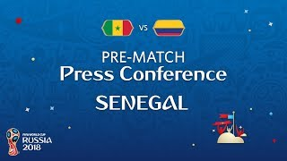 fifa world cup 2018 sen vs col  senegal - pre-match press conference