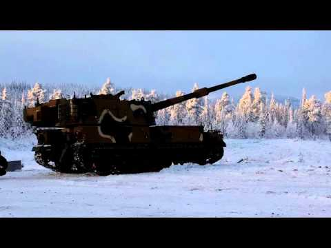 K9 Thunder (dancing) in Norwegian snow and frost.