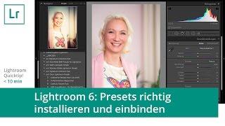 Lightroom-Quicktip: Presets (Vorgaben) installieren/einbinden