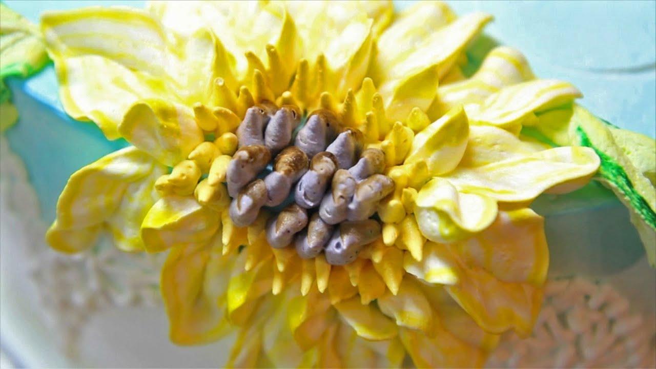 Sunflower Wedding Cake / Cake Decorating - YouTube