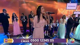 Apresentador Ratinho se emociona no Teleton   Aleluia   Participação Melissa Barcelos