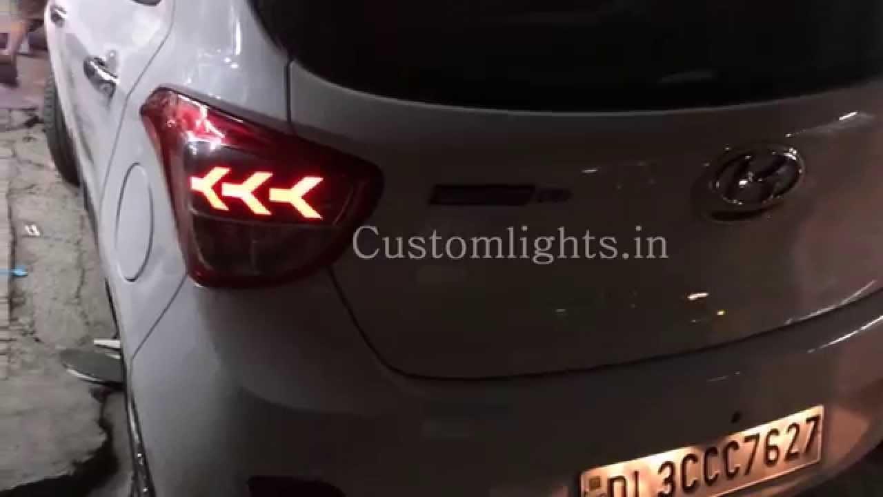 I10 Grand Projector Headlights And Lamborghini Style Led
