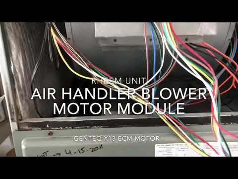 Blower Motor Genteq/GE X13 module replacement - YouTube