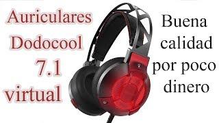 Auriculares Dodocool Gaming 7.1 Virtual: Buena calidad por poco dinero