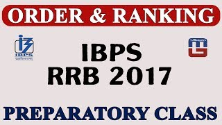 ORDER & RANKING | PREPARATORY CLASS | REASONING | IBPS | RRB 2017