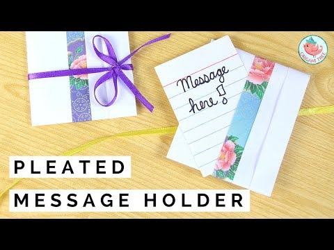 Origami Message Holder: Mini Origami Envelope with Ribbon Bow!