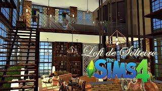 Loft de um Sim Solteiro│The Sims 4 (Speed Build)