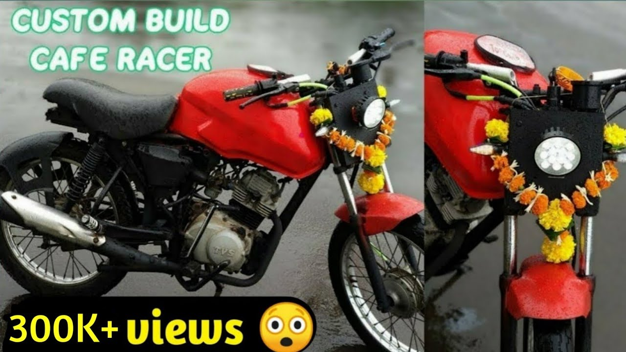 Repeat Modified TVS star city in Cafe racer | Cafe racer India
