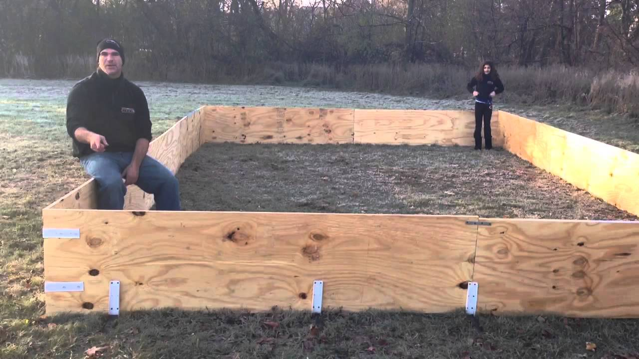 Backyard ice rink using plywood boards - YouTube