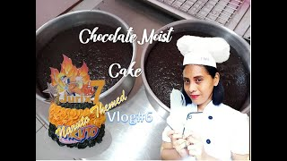 Chocolate Moist Cake in Naruto themed design