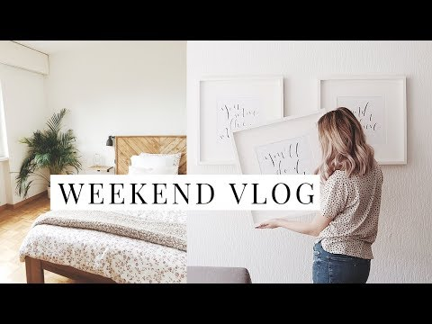 A Weekend Full Of DIY Projects! | DIY Headboard, Table + Wall Art | VLOG