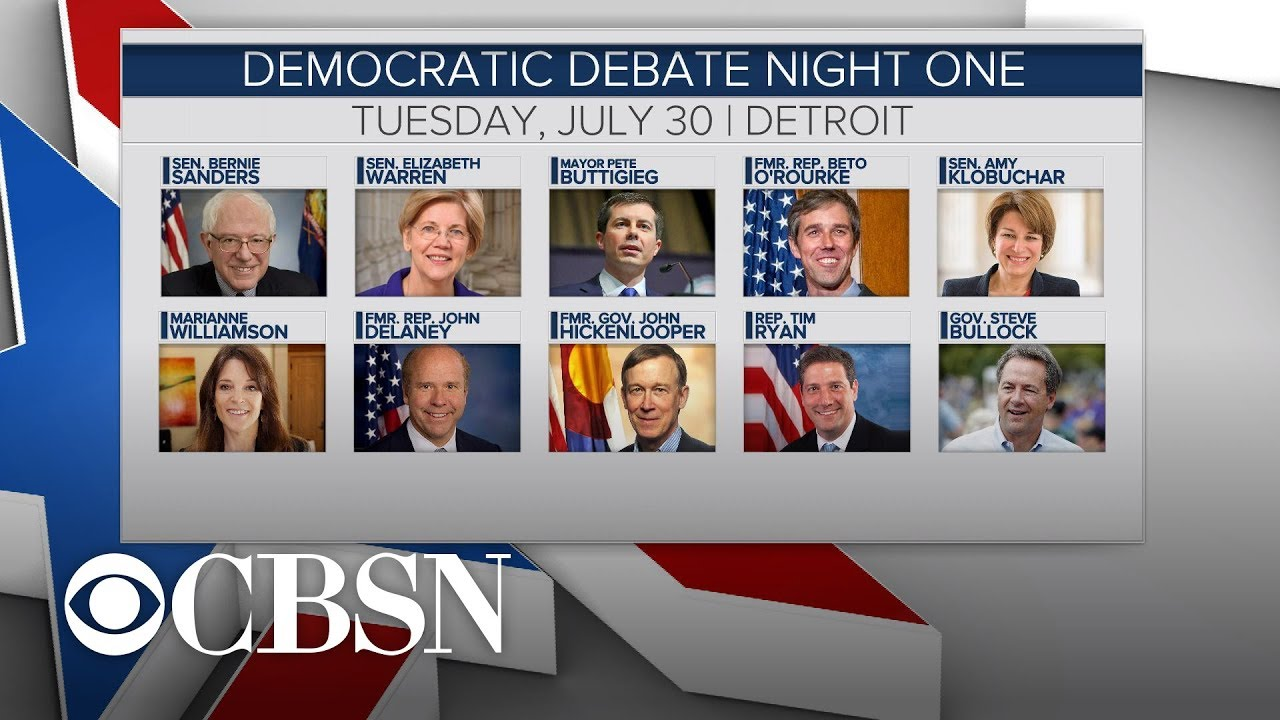 How to watch the Democratic debate: Time, channels, lineup ...