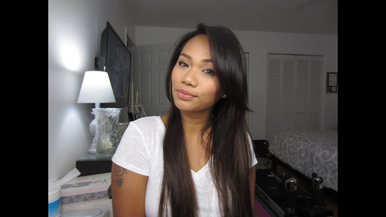 HOw To StYLe PerFecT SiDe BanGs FoR StRaight Hair YouTube