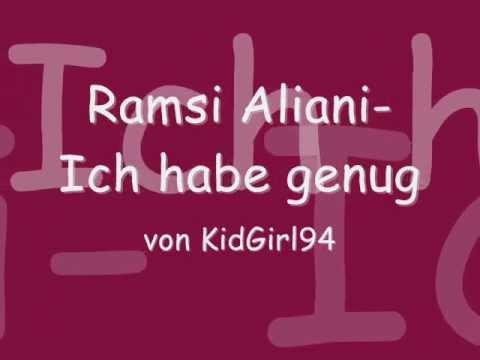 Ramsi Aliani- Ich habe genug