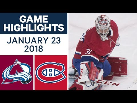 NHL Game Highlights | Avalanche vs. Canadiens — Jan. 23, 2018