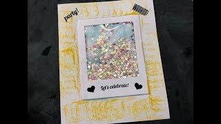 Shaker Card | Let's Celebrate Card | Super Easy Shaker Card