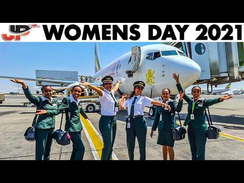 WOMENS DAY 2021 Ethiopian Boeing 737 departing Addis Ababa