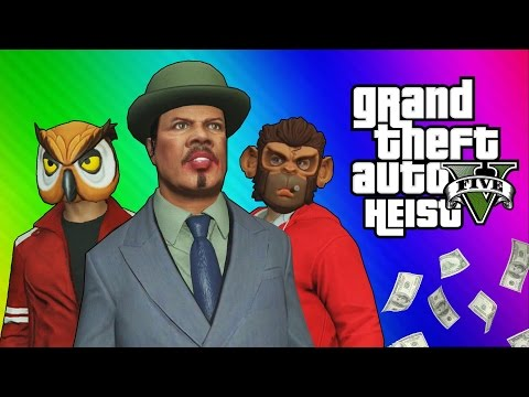 Thumbnail: GTA 5 Heists #2 - Nogla's Outfits & Epic Car Chase! (GTA 5 Online Funny Moments) [Part 1]