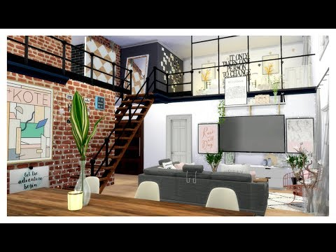 The Sims 4 | Apartment Build: Aesthetic RoseGoldLoft Apartment | W/CC LINKS!!