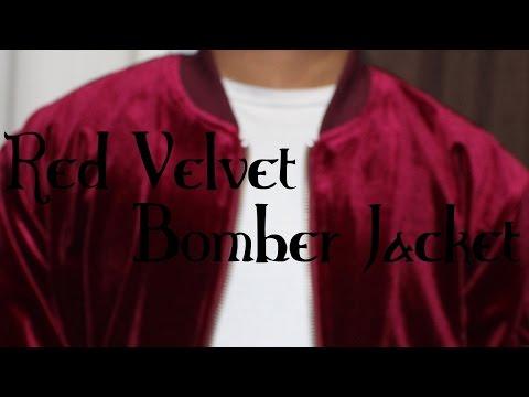 Red Velvet Bomber Jacket (HD Video)