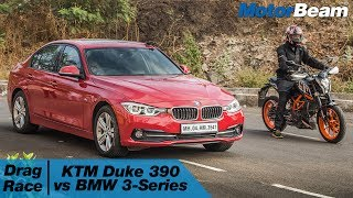 KTM Duke 390 vs BMW 3-Series - Car vs Bike: Episode 2 | MotorBeam