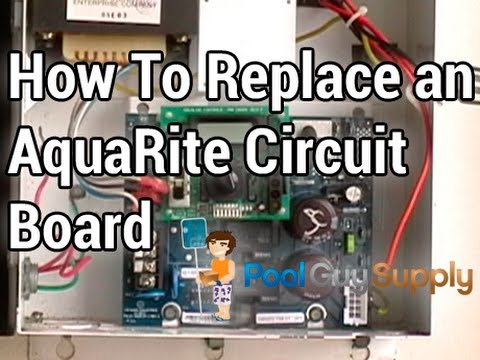 hqdefault how to replace an aquarite� main circuit board pcb rite youtube hayward aqua rite wiring diagram at edmiracle.co