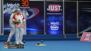 Just. 2019 World Indoor Bowls Championships: Day 5 Session 3