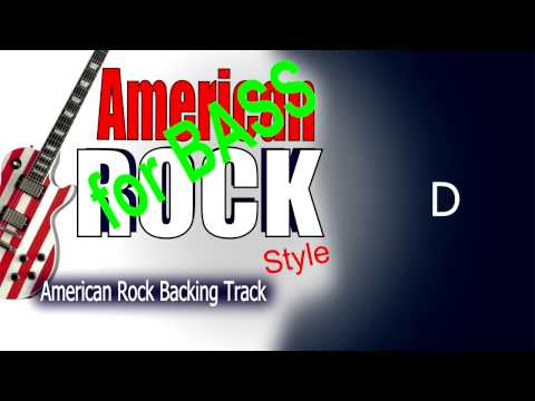 American Rock BASS Backing Track 103 Bpm Highest Quality