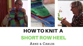 How to knit a short row heel for a sock by ARNE & CARLOS