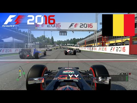 F1 2016 - 100% Race at Spa-Francorchamps, Belgium in Verstappen's Red Bull