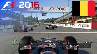 F1 2016 - 100% Race at Spa-Francorchamps, Belgium in Verstappen