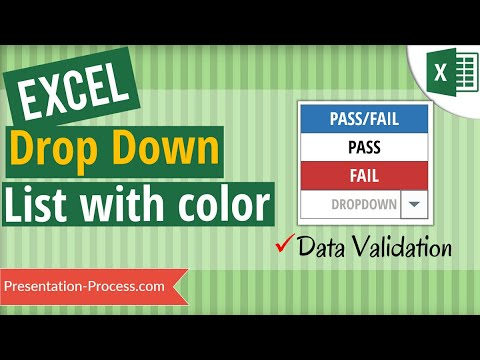 Create Drop Down List In Excel With Color  (Data Validation)