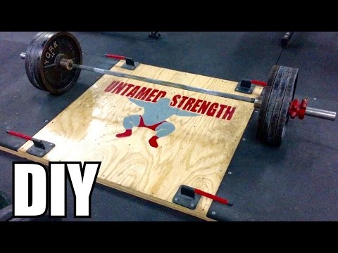 How To Build Your Own Deadlift Platform W Your Logo