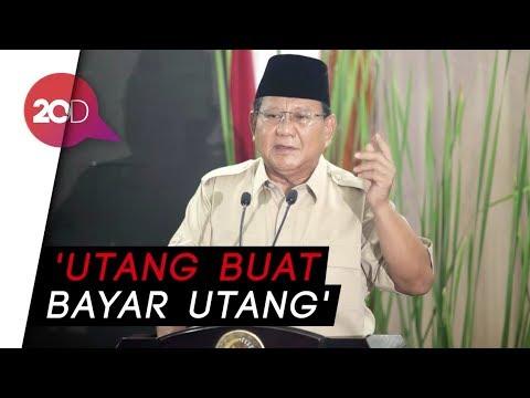 Prabowo: Celaka! Total Utang Kita Nyaris Rp 9.000 Triliun