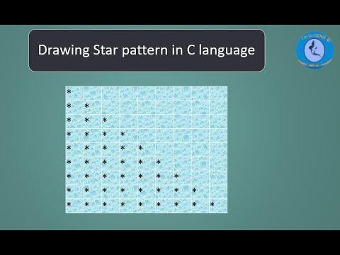 Star pattern for Right Triangle using C program | #SkillupwithGenie