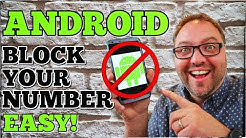 How To Block Your Number When Calling On ANDROID - Hide Caller ID