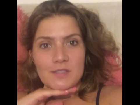 Fátima da novela carinha de anjo mandou um vídeo para mim😍😍😍