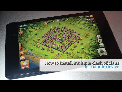 How to install multiple clash of clans on a single device
